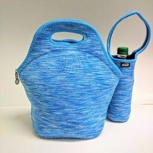 NEW Neoprene lunch bag box and water bottle holder
